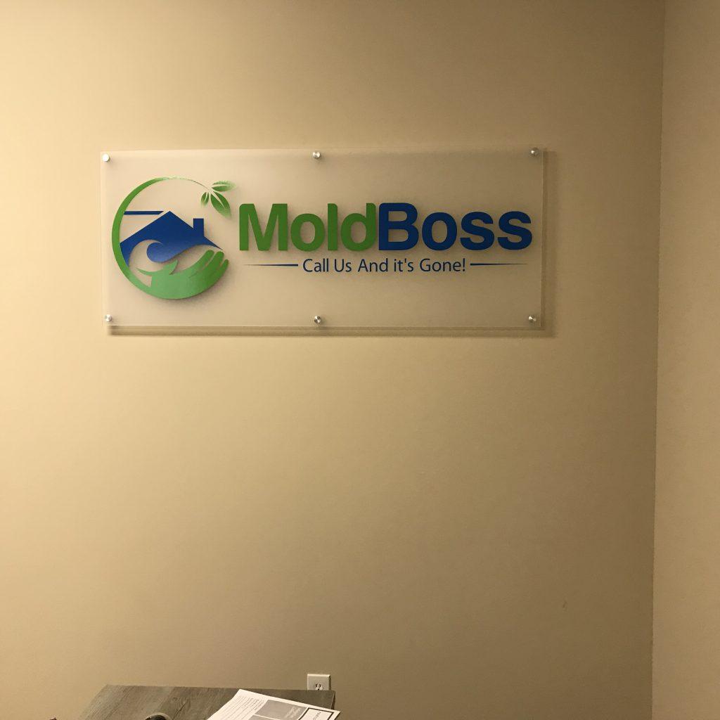 Acrylic standoff sign Mold Boss