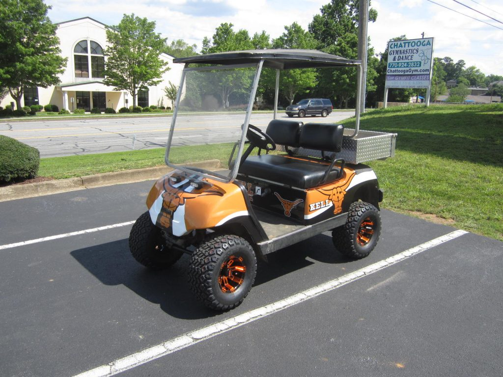 Custom golf cart wrap Kell High school