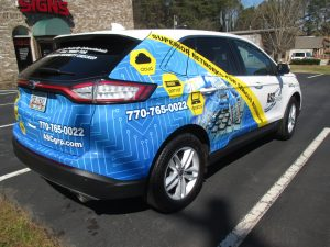 Custom partial SUV wrap
