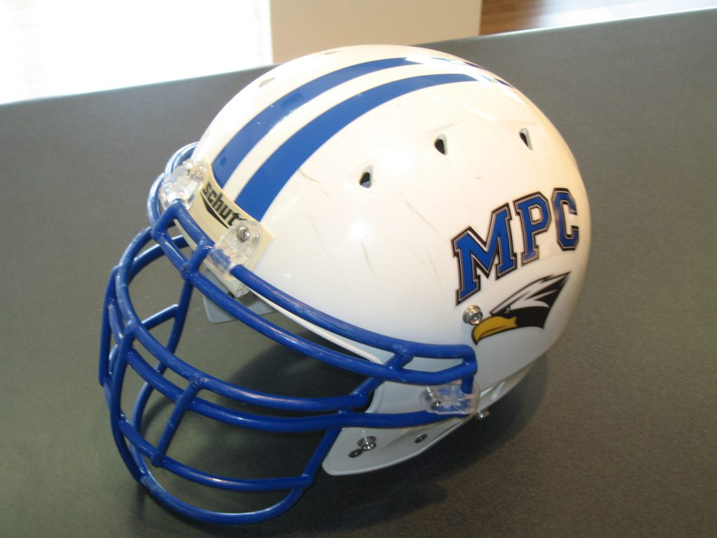 Custom vinyl decals football helmet