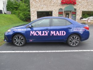 Cut vinyl graphics Molly Maid