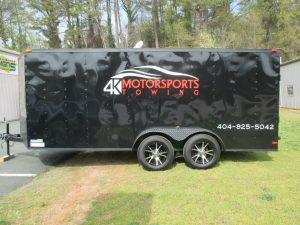 Digitally printed trailer graphics 4K Motorsports