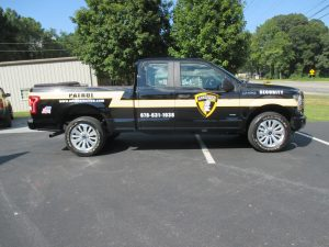 Digitally printed vehicle graphics Advanced Protective Services (2)
