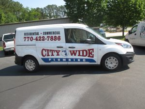 Digitally printed vehicle graphics City Wide Plumbing