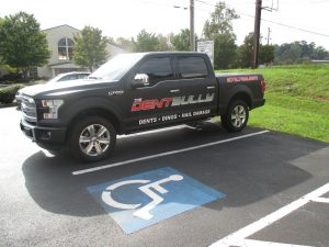 Digitally printed vehicle graphics Dent Bully