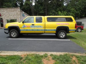 Digitally printed vehicle graphics Fire Systems