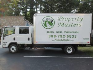 Digitally printed vehicle graphics Property Masters