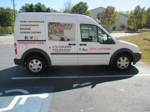 Digitally printed vehicle graphics RTP Customs