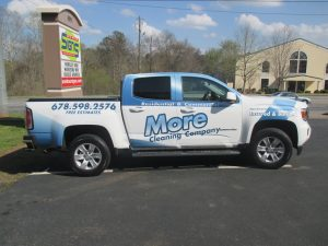 Partial truck wrap More cleaning company