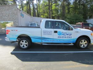 Partial truck wrap PureClean