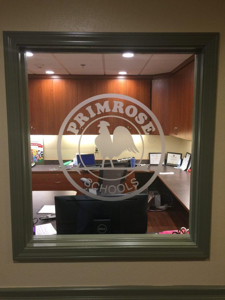 Primrose vinyl Etchmark logo