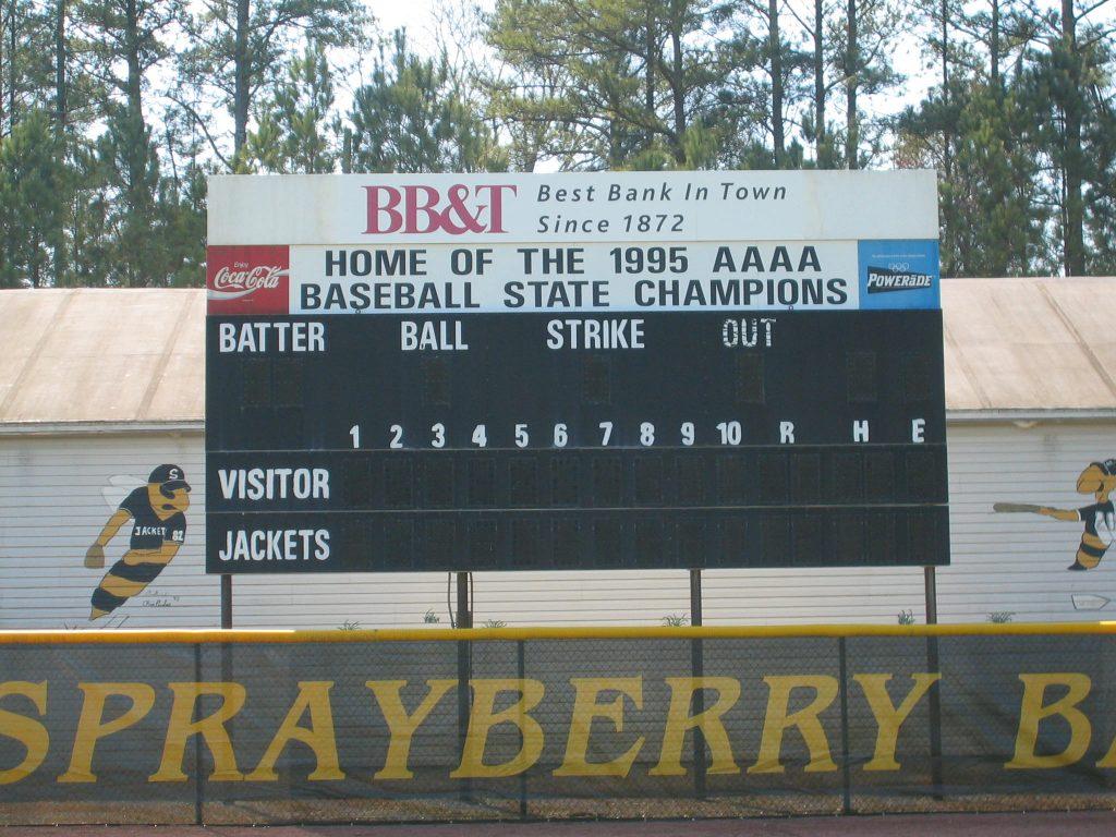 SHS baseball scoreboard