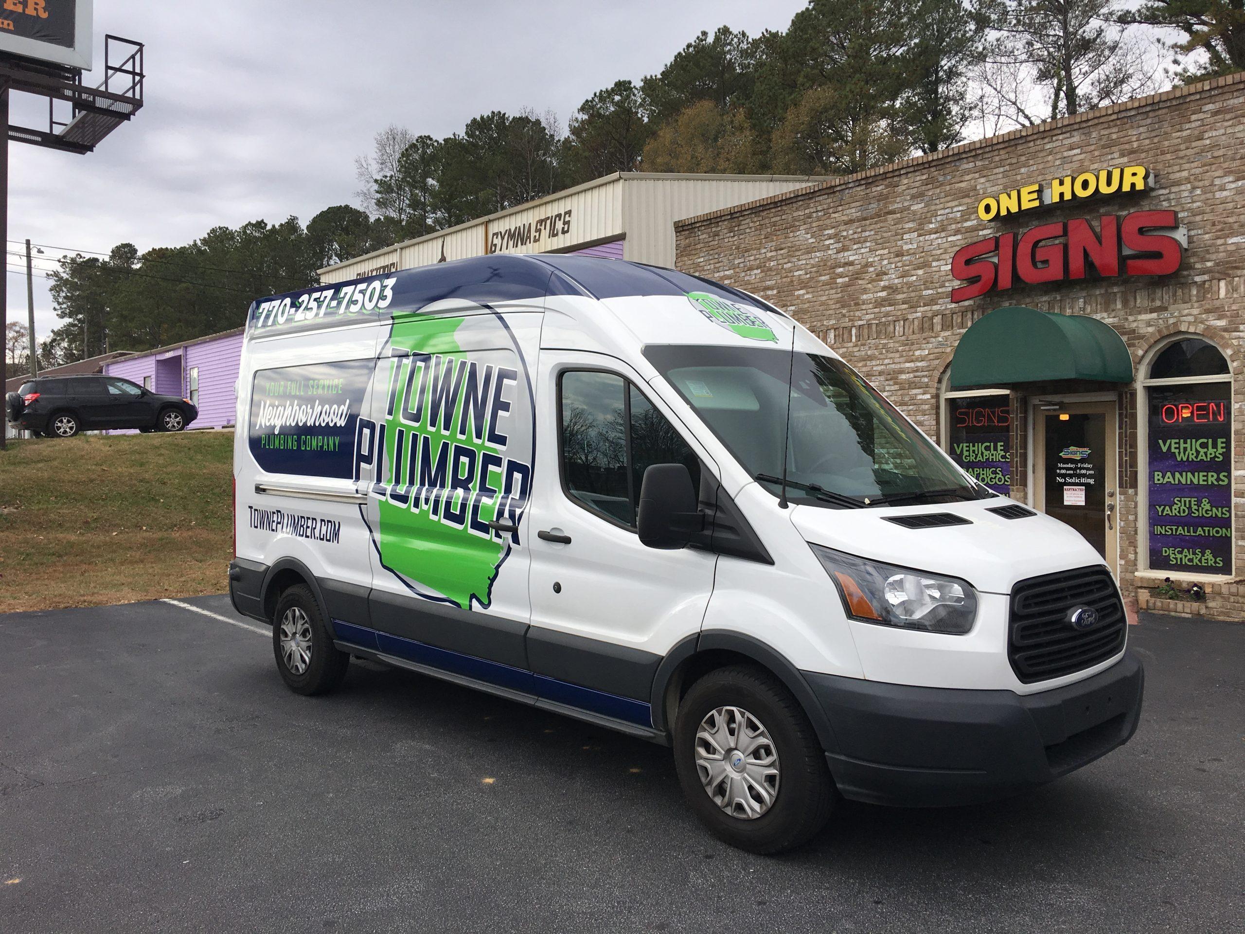 Marietta GA Plumbing Truck Graphics