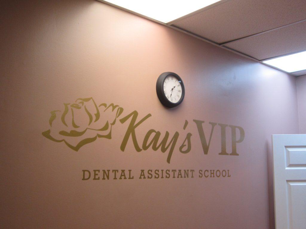 Vinyl logo on drywall