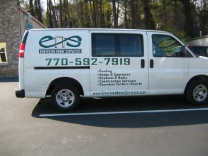 cut vinyl vehicle graphics Emerson home services