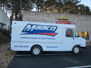 cut vinyl vehicle graphics and large decal Maaco