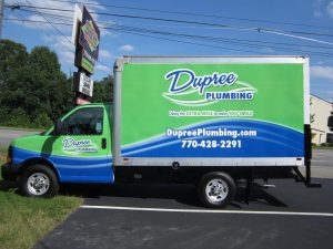 full box truck wrap Dupree Plumbing