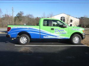 full truck wrap Dupree Plumbing