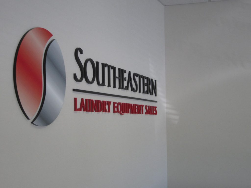 painted dimensional acrylic logo