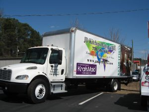 partial box truck wrap JD Kitchens