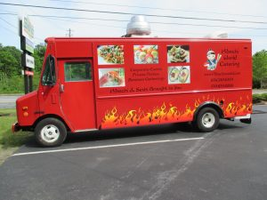 partial food truck wrap