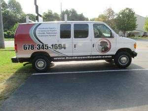 partial van wrap Red Rover Repair