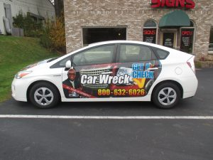 patial car wrap forrest b. johnson