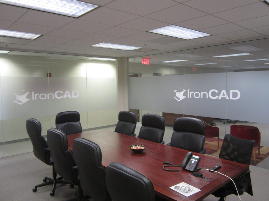 vinyl etchmark graphics for conference room walls